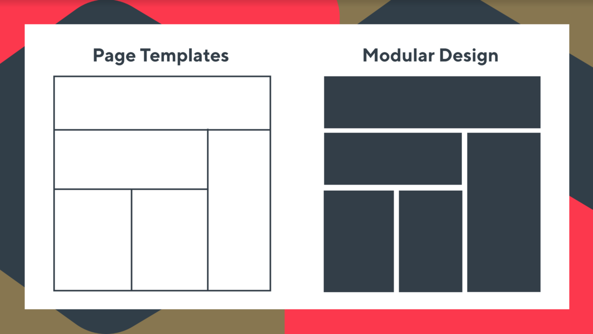 The difference between template-based and modular web design